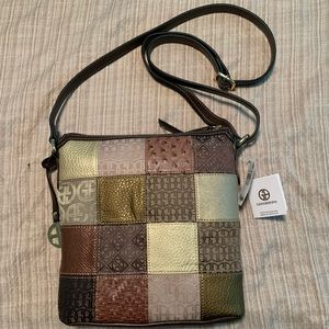 Giani Bernini Patchwork Multi Crossbody Bag. NWT